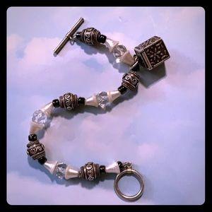 Bracelet with sterling keepsake box charm